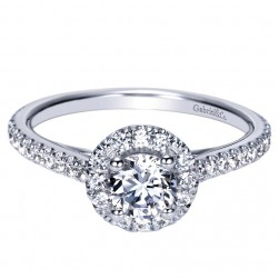 Gabriel 14 Karat Contemporary Engagement Ring ER98523W44JJ