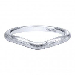 Gabriel 14 Karat Contemporary Wedding Band WB10429W4JJJ
