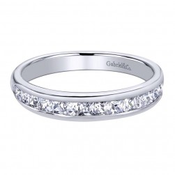 Gabriel 14 Karat Contemporary Wedding Band WB9696W44JJ