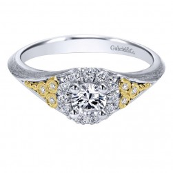 Gabriel 14 Karat Contemporary Engagement Ring ER911500R0M44JJ