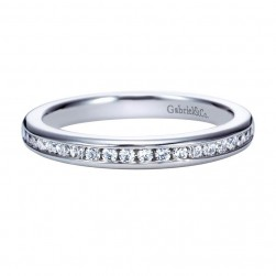Gabriel 14 Karat Contemporary Wedding Band WB8187W44JJ