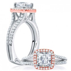 A.JAFFE Platinum Signature Engagement Ring MES633