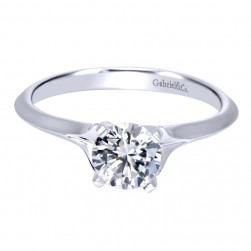 Gabriel 14 Karat Contemporary Engagement Ring ER11832R3W4JJJ