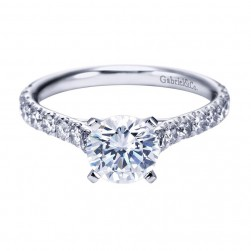 Gabriel 14 Karat Contemporary Engagement Ring ER7225W44JJ