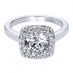 Gabriel 14 Karat Contemporary Engagement Ring ER9416W44JJ
