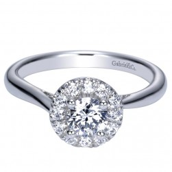 Gabriel 14 Karat Contemporary Engagement Ring ER98530W44JJ