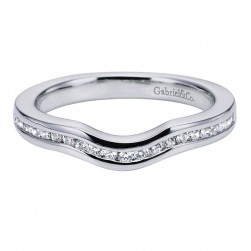 Gabriel 14 Karat Contemporary Wedding Band WB5740W44JJ