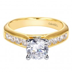 Gabriel 14 Karat Contemporary Engagement Ring ER3962M44JJ