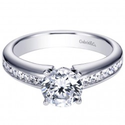 Gabriel 14 Karat Contemporary Engagement Ring ER3987W44JJ