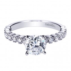 Gabriel 14 Karat Contemporary Engagement Ring ER7532W44JJ