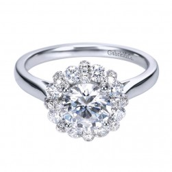 Gabriel 14 Karat Contemporary Engagement Ring ER7944W44JJ