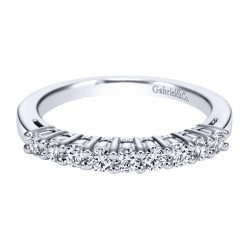 Gabriel 14 Karat Contemporary Wedding Band WB1738W44JJ
