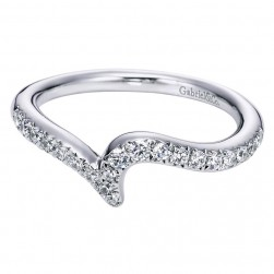 Gabriel 14 Karat Contemporary Wedding Band WB6115W44JJ