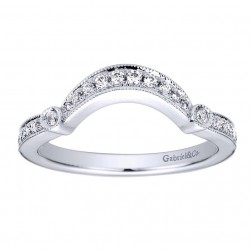 Gabriel 14 Karat Contemporary Wedding Band WB9241W44JJ