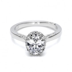 Tacori Platinum Dantela Engagement Ring 2620OVMD