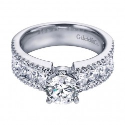Gabriel 14 Karat Contemporary Engagement Ring ER5262W44JJ