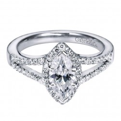 Gabriel 14 Karat Contemporary Engagement Ring ER5878W44JJ
