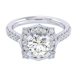 Gabriel 14 Karat Perfect Match Engagement Ring ER039C6ADW44JJ