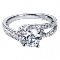 Gabriel 14 Karat Contemporary Engagement Ring ER6356W44JJ