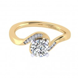 Gabriel 14 Karat Contemporary Engagement Ring ER7244M44JJ