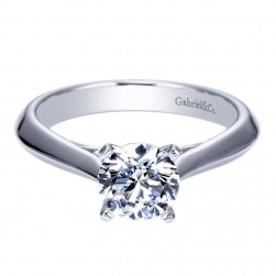 Gabriel 14 Karat Contemporary Engagement Ring ER8296W4JJJ
