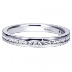 Gabriel 14 Karat Contemporary Wedding Band WB8192W44JJ
