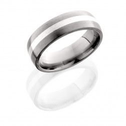 Lashbrook 7D12/SS SATIN Titanium Wedding Ring or Band