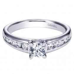 Gabriel 14 Karat Contemporary Engagement Ring ER94282W44JJ