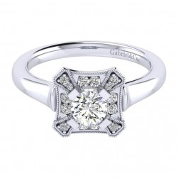 Gabriel 14 Karat Perfect Match Engagement Ring ER009A2AEW44JJ
