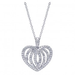 Gabriel Fashion 14 Karat Eternal Love Heart Necklace NK3258W45JJ
