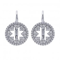 Gabriel Fashion 14 Karat Lusso Diamond Leverback Earrings EG12641W45JJ