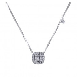 Gabriel Fashion 14 Karat Pave Necklace NK4967W45JJ