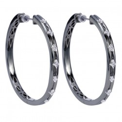 Gabriel Fashion Silver Hoops Hoop Earrings EG11620SV5JJ