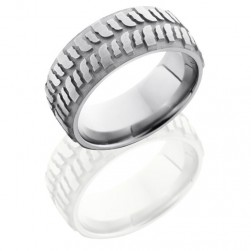 Lashbrook 9DMUD Sand-Satin Titanium Wedding Ring or Band