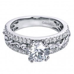 Gabriel 14 Karat Contemporary Engagement Ring ER6390W44JJ