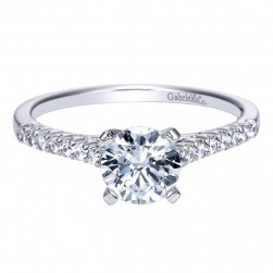 Gabriel 14 Karat Contemporary Engagement Ring ER7989W44JJ