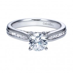 Gabriel 14 Karat Contemporary Engagement Ring ER8008W44JJ