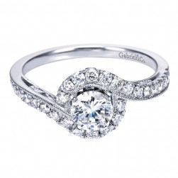Gabriel 14 Karat Contemporary Engagement Ring ER97775W44JJ