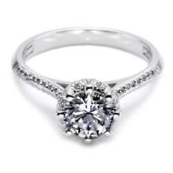 Tacori Platinum Solitaire Engagement Ring 2504RDP65