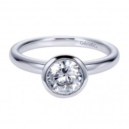 Gabriel 14 Karat Contemporary Engagement Ring ER8077W4JJJ