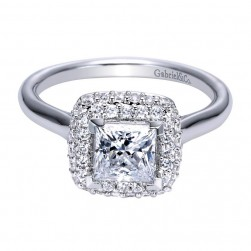 Gabriel 14 Karat Contemporary Engagement Ring ER8289W44JJ