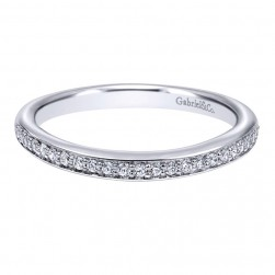 Gabriel 14 Karat Contemporary Wedding Band WB10428W44JJ