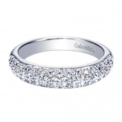 Gabriel 14 Karat Contemporary Wedding Band WB3899W44JJ