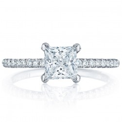 HT254515PR55 Platinum Tacori Petite Crescent Engagement Ring
