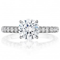 Henri Daussi BSSR Round Diamond Solitaire Engagement Ring