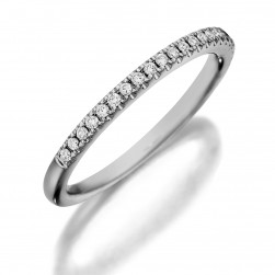 Henri Daussi R1-1 Diamond Band Single Line of Diamonds