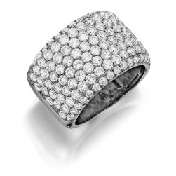 Henri Daussi R20 Eight Row Pave Set Diamond Band