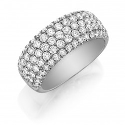 Henri Daussi R22 Five Row Pave Set Diamond Band