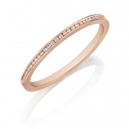 Henri Daussi R27-2 Rose Gold Channel Set Diamond Band
