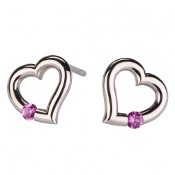 Kretchmer 18 Karat Heart Shape Tension Set Earrings